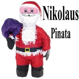 Nikolaus Pinata, dekoration mit dem Weihnachtsmann
