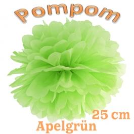 Pompom Apfelgrün, 25 cm