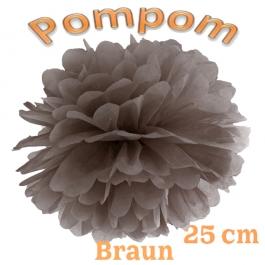 Pompom Braun, 25 cm