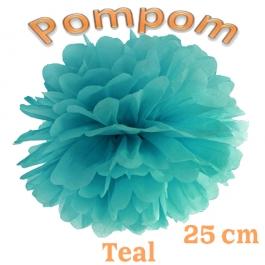 Pompom Teal, 25 cm