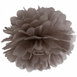 Pompom Braun, 35 cm