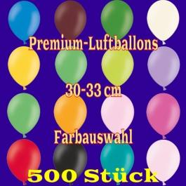 Luftballons 30-33 cm, Premium-Qualität, Farbauswahl, 500 Stück