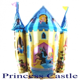 Princess Castle Luftballon aus Folie ohne Helium