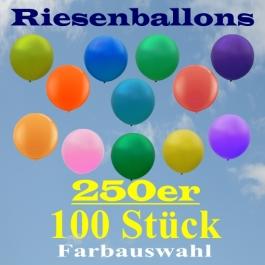 Riesenballons 250er, 100 Stück