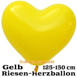 Riesen-Herzluftballon 150 cm, gelb
