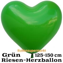 Riesen-Herzluftballon 150 cm, grün
