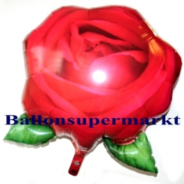 Rose Luftballon aus Folie inklusive Helium