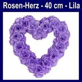 Rosen-Herz-Hochzeitsdekoration-Herz-aus-Rosen-Lila