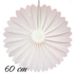 Rosette Weiß, 60 cm, schwer entflammbar