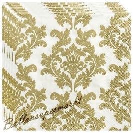 Deko-Servietten, goldene Ornamente, 20 Stück