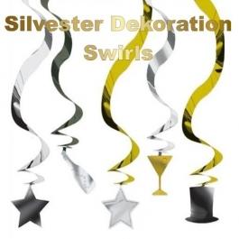 Silvester Dekoration Swirls
