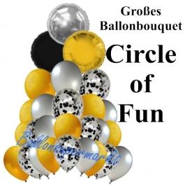 Großes Ballon-Bouquet Circle of Fun mit 27 Luftballons