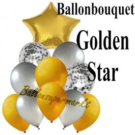 Ballon-Bouquet Golden Star mit 11 Luftballons