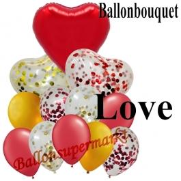 Ballon-Bouquet Love mit 12 Luftballons