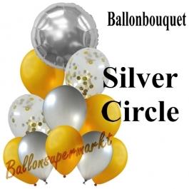 Ballon-Bouquet Silver Circle mit 11 Luftballons