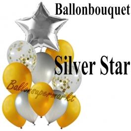 Ballon-Bouquet Silver Star mit 11 Luftballons