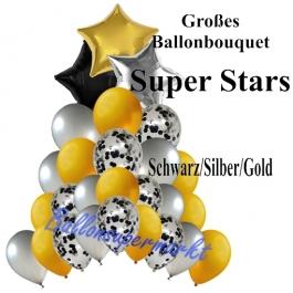 Großes Ballon-Bouquet Super Stars mit 27 Luftballons