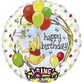 Singender Luftballon, Winnie Pooh zum Geburtstag