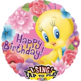 Happy Birthday, singender Folienballon Tweety