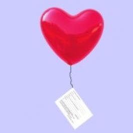 Ballonflugkarten / Hochzeit 1000 Stück