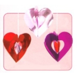 3D  Hanging Decoration Hearts