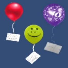 Ballonflugkarte, Wettbewerbskarte Ballonweitflug, 1 Stück