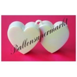 Ballongewicht Herzen Perlmutt