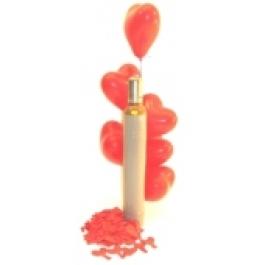 Midi-Set 2/1, 50 rote Herzluftballons mit Helium / inkl. Rückporto