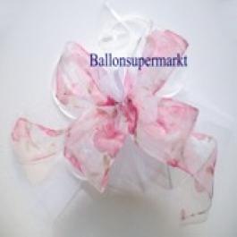 Deko-Zierschleife, Rose mit Tüllstoff