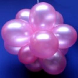 Luftballons Hochzeit Ballonkugeln, Perlmutt 25cm Ø, 75 Stück