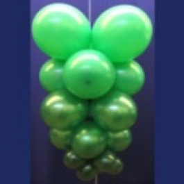 Ballontrauben mit Luftballons 5 Stück Grün