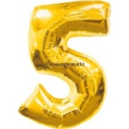 "Folienballondeko ""5"" (heliumgefüllt)"