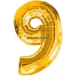 "Folienballondeko ""9"" (heliumgefüllt)"