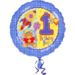 Luftballon aus Folie zum 1. Geburtstag, Boy, Junge