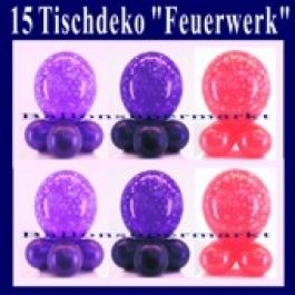 Tischdeko Luftballons Feuerwerk, 15 Stück