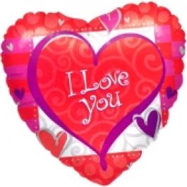 I Love you Heart Forever (heliumgefüllt)