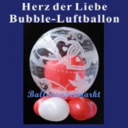 Herz der Liebe, Bubble Luftballon (mit Helium)