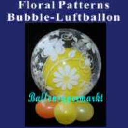 Floral Patterns, Bubble Luftballon (mit Helium)