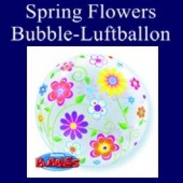 Spring Floral Patterns, Bubble Luftballon (mit Helium)