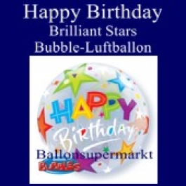 Happy Birthday Brilliant Stars, Bubble Luftballon (mit Helium)