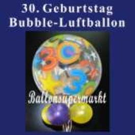 30. Geburtstag, Bubble Luftballon (mit Helium)