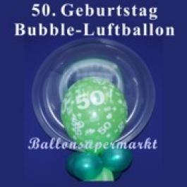 50. Geburtstag, Bubble Luftballon (mit Helium)