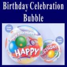 Birthday Celebration Bubble Luftballon (mit Helium)