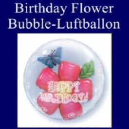 Birthday Flower, Bubble Luftballon (mit Helium)