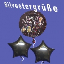 Silvestergrüße Happy New Year, Stars