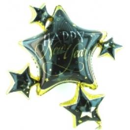 """Happy New Year """"Stars"""" Silvesterdeko-Luftballon"""