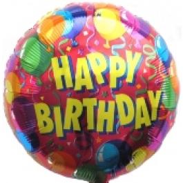 Happy Birthday 2, Luftballon aus Folie (ohne Helium)