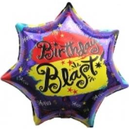 Happy Birthday Blast, Luftballon aus Folie (ohne Helium)