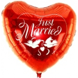 Just Married (Rotes Herz)