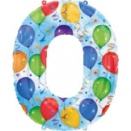 """Luftballons: Folienballondeko Balloons """"0"""" (ohne Helium)"""